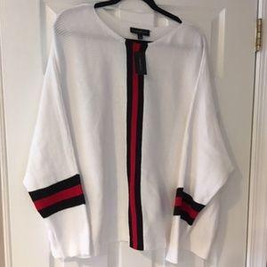 Lane Bryant Dolman Sleeve Stripe Sweater 22/24 NWT